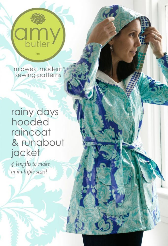Amy Butler - Rainy Days Hooded Raincoat sewing pattern